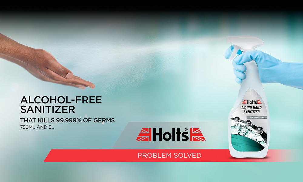 Holts launches Liquid Hand Sanitizer